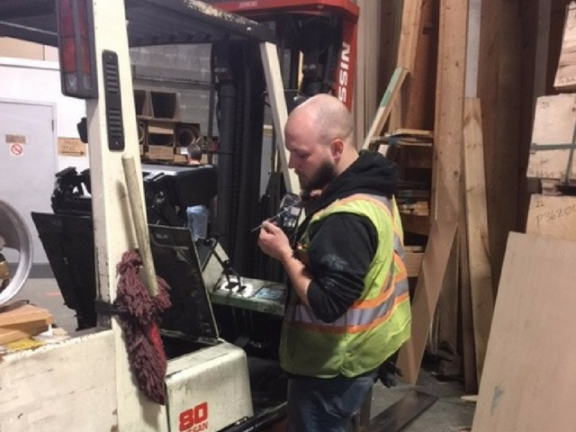 pre shit inspection - forklift operator